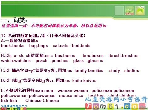 小升初语法总复习课件1_人教版小学pep英语六年级下册