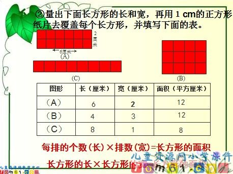 长方形面积的计算课件3