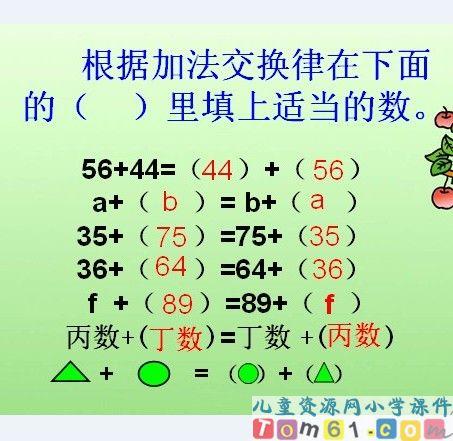 加法运算定律课件15