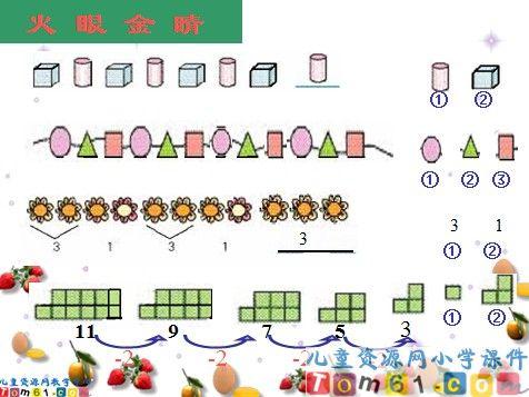 找规律课件11_人教版小学数学一年级下册课件_小学图片