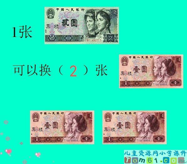 认识人民币例题课件2