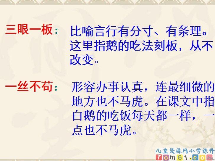 白鹅课件23_人教版小学语文四年级上册课件