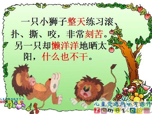 两只小狮子课件21