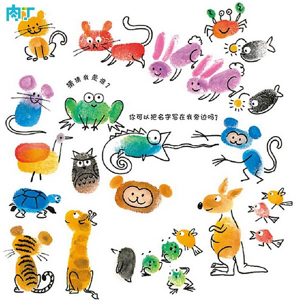 动物世界-手指画图集图片_儿童手指画_少儿图库_中国
