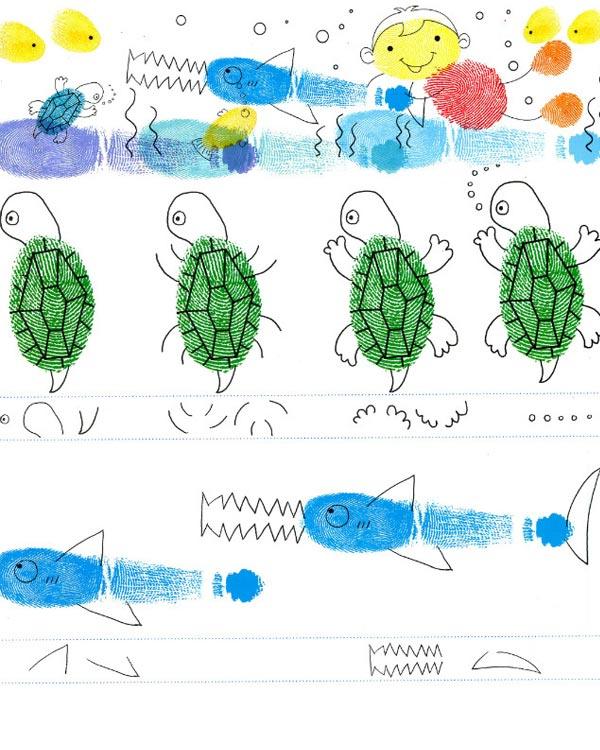 动物世界-手指画图集