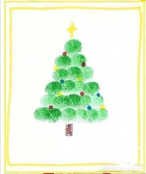 圣诞树-手指画图集图片