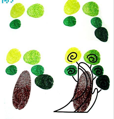 大树-手指画图集图片