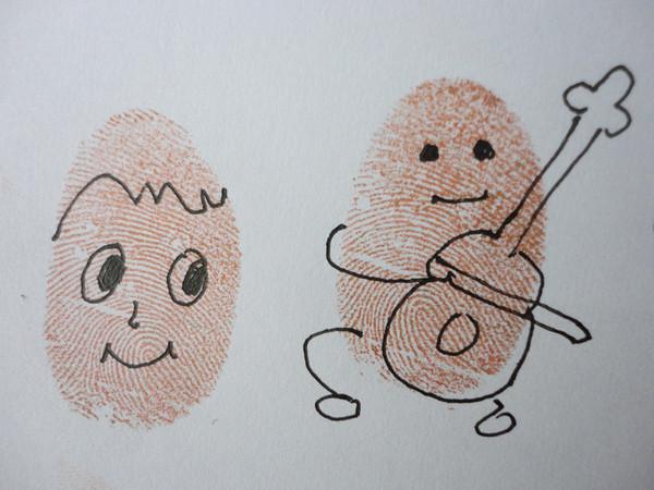 小人-手指画图集图片