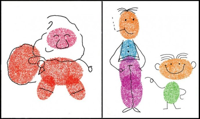 小人物-手指画图集