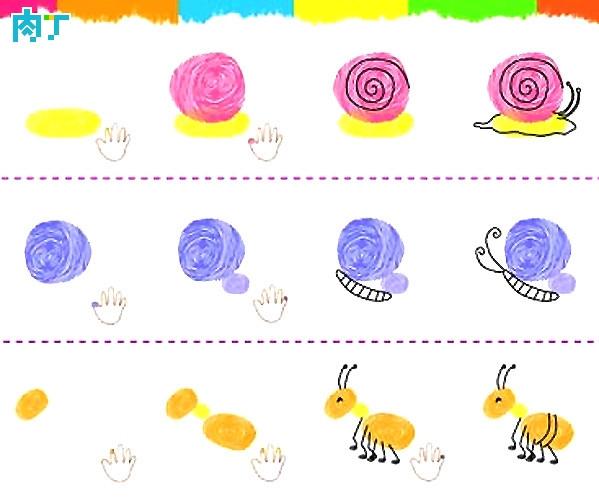 小图集,小仓鼠和小蚂蚁-手指画蜗牛蝴蝶开吃什么蔬菜水果图片