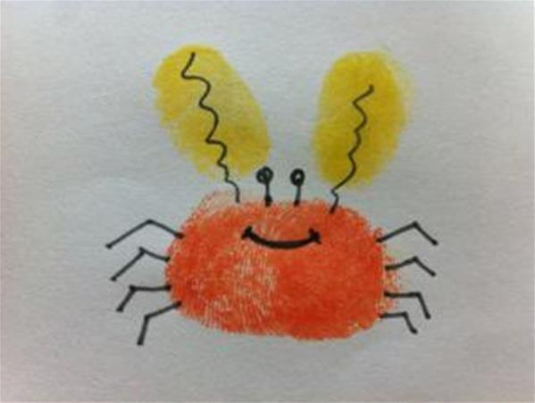 小螃蟹-手指画图集