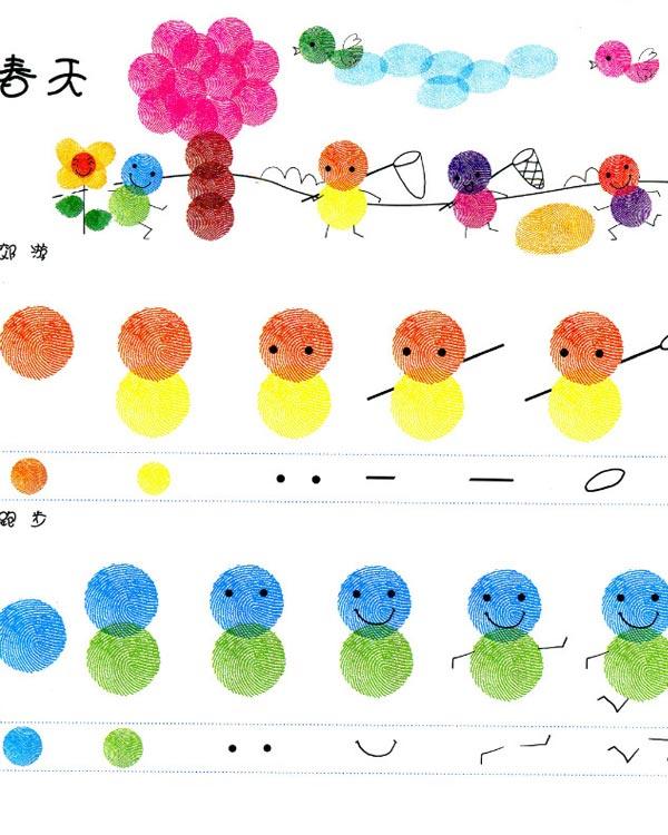 春天-手指画图集图片_儿童手指画_少儿图库_中国儿童