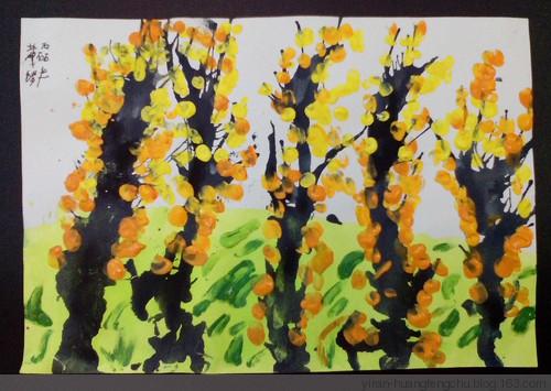 树-手指画图集图片