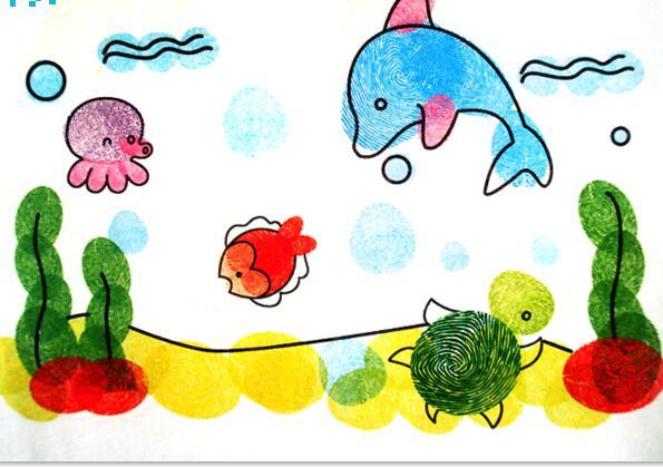 海底世界-手指画图集图片_儿童手指画_少儿图库_中国
