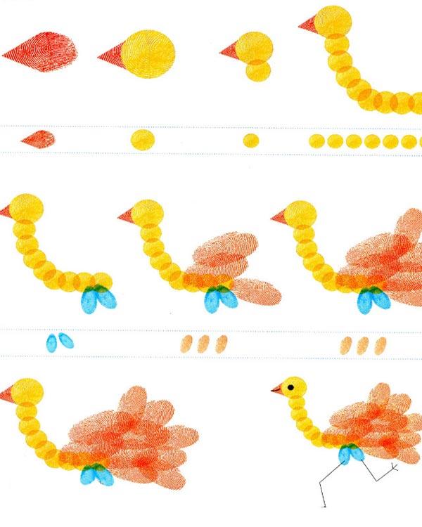 鸵鸟-手指画图集图片_儿童手指画_少儿图库_中国儿童