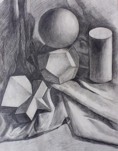 几何立体-素描图集-印花 几何 三维立体线条图图片