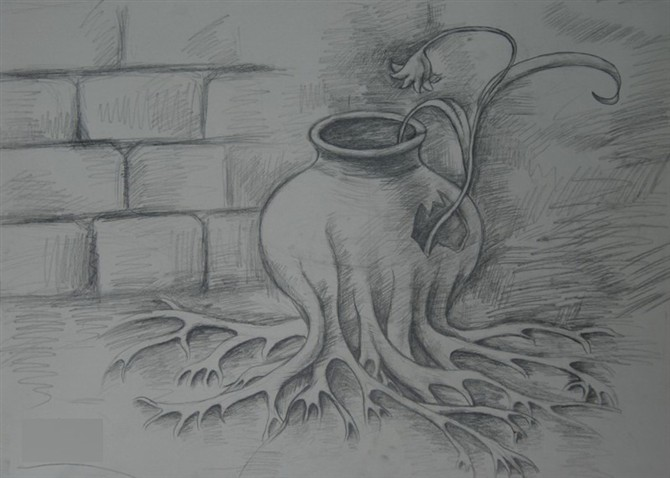 创意素描-素描图集图片