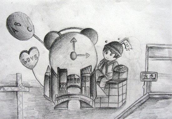 动漫-素描图集图片_儿童素描_少儿图库_中国儿童资源网