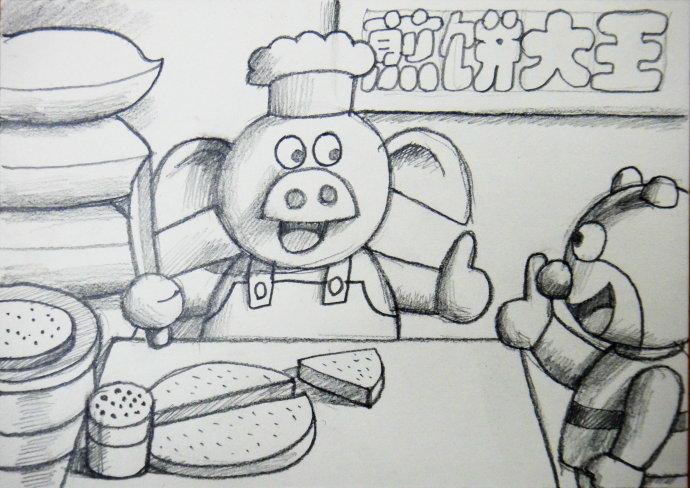 小猪佩奇铅笔简笔画