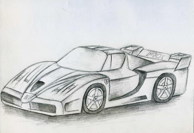 汽车-素描图集