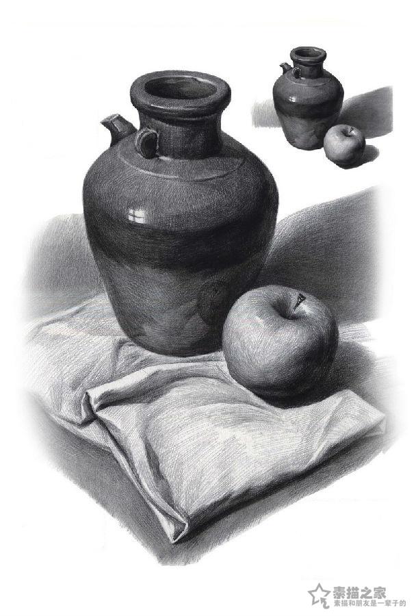 罐子-素描图集图片_儿童素描_少儿图库_中国儿童资源网
