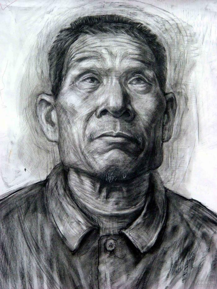 老人头像-素描图集图片_儿童素描_少儿图库_中国儿童