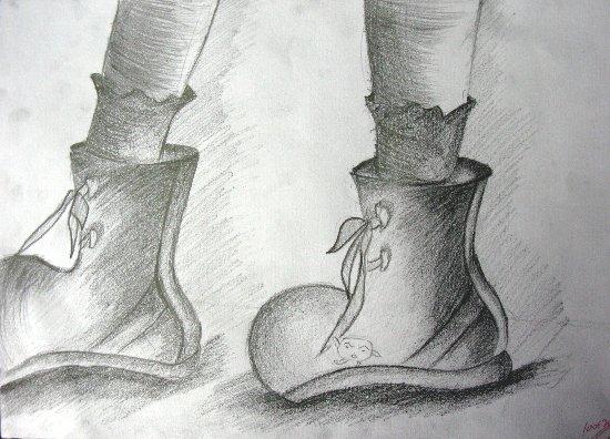 鞋子-素描图集