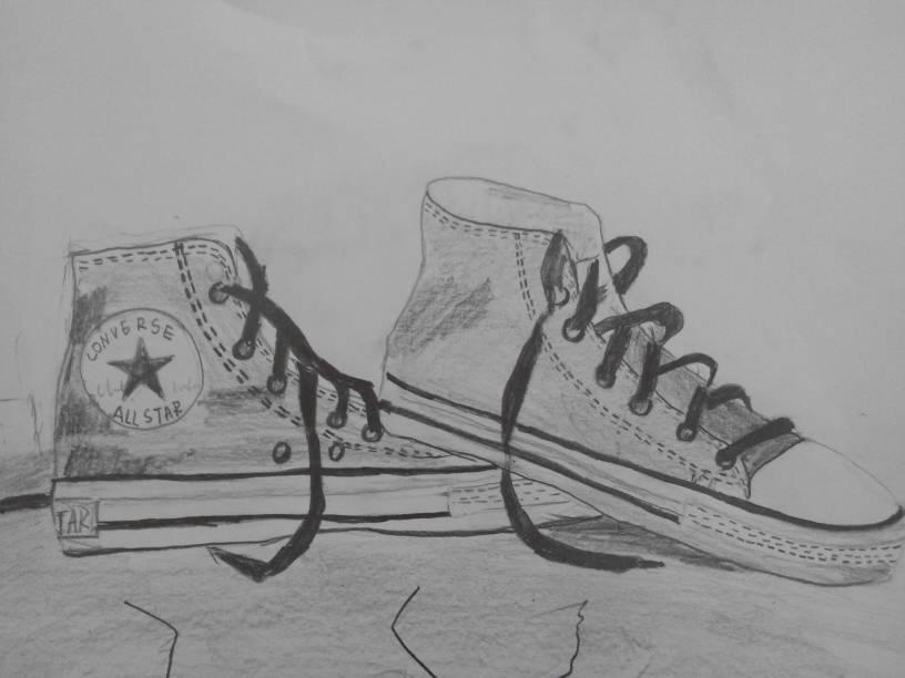 鞋子-素描图集图片_儿童素描_少儿图库_中国儿童资源网