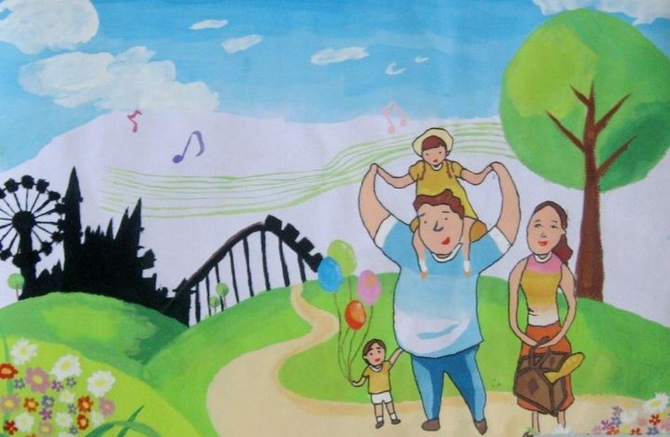 一家人-水彩画图集