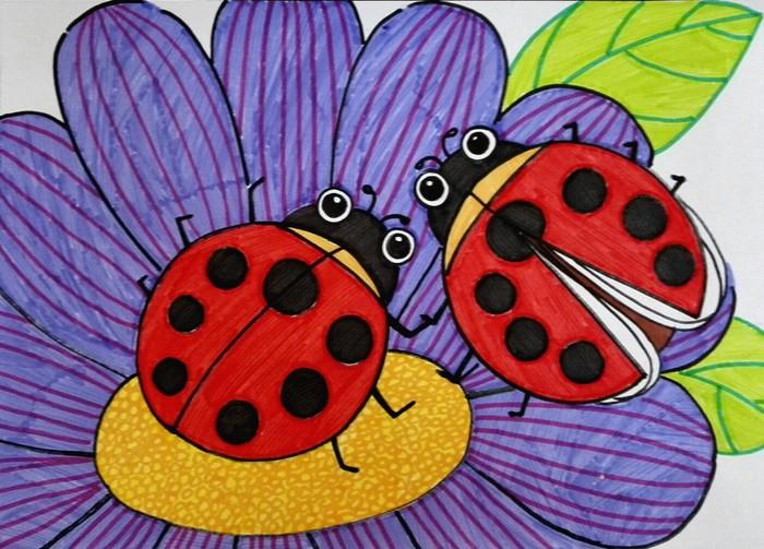 七星瓢虫-水彩画图集