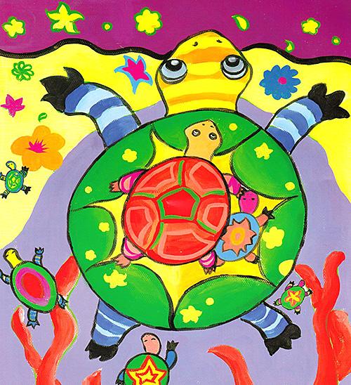 乌龟-水彩画图集