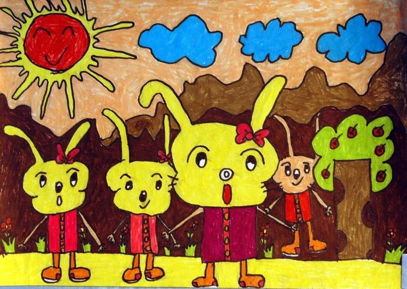 兔子-水彩画图集