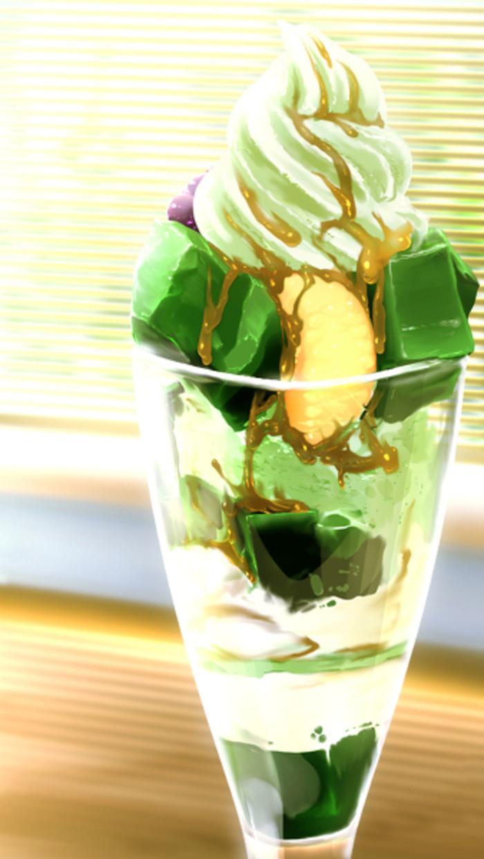 冰激凌-水彩画图集图片_儿童水彩画_少儿图库_中国