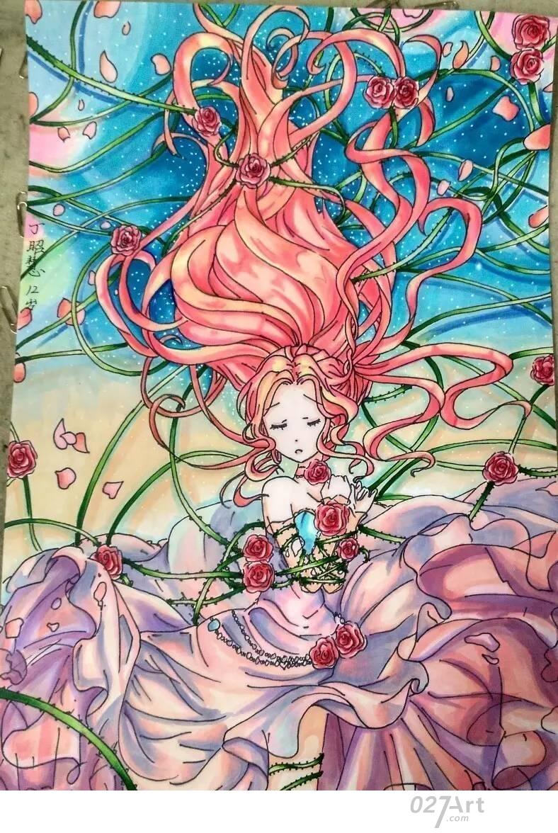 动漫人物-水彩画图集