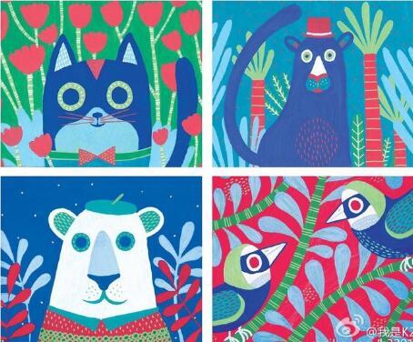 动物乐园-水彩画图集