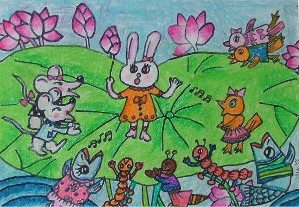 动物乐园-水彩画图集图片_儿童水彩画_少儿图库_中国