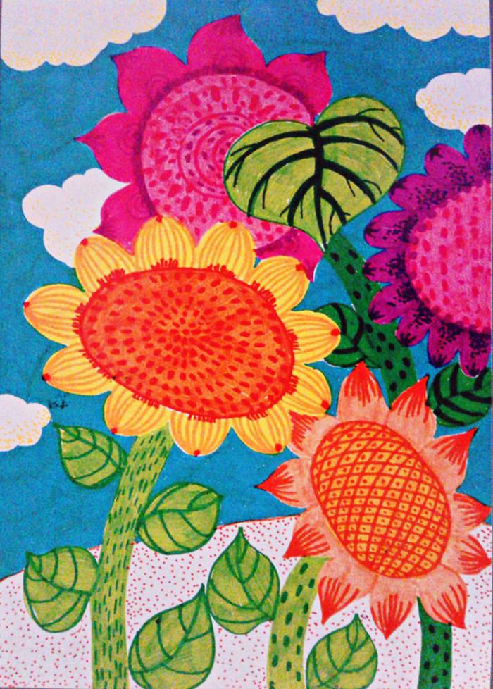 向日葵-水彩画图集
