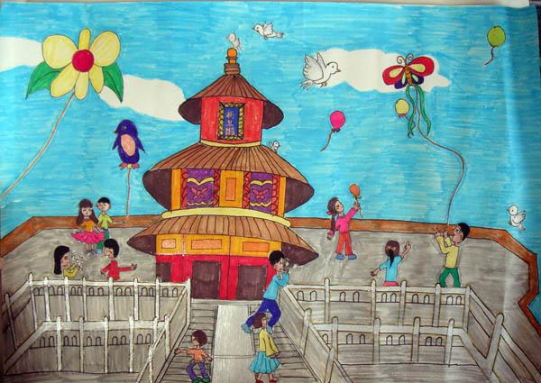 国庆节-水彩画图集