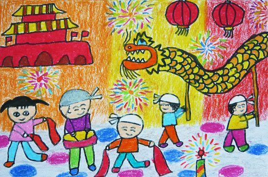 国庆节-水彩画图集图片