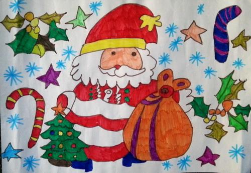 圣诞老人-水彩画图集