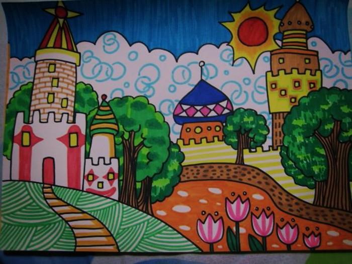 城市-水彩画图集图片