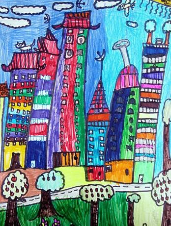 城市-水彩画图集