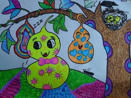 大树-水彩画图集图片_儿童水彩画-冬天 水彩画图集图片 儿童水彩画 少
