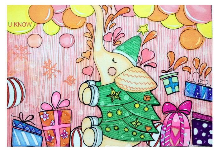 大象-水彩画图集图片_儿童水彩画_少儿图库_中国儿童