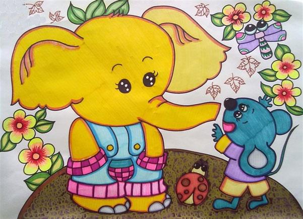 大象-水彩画图集