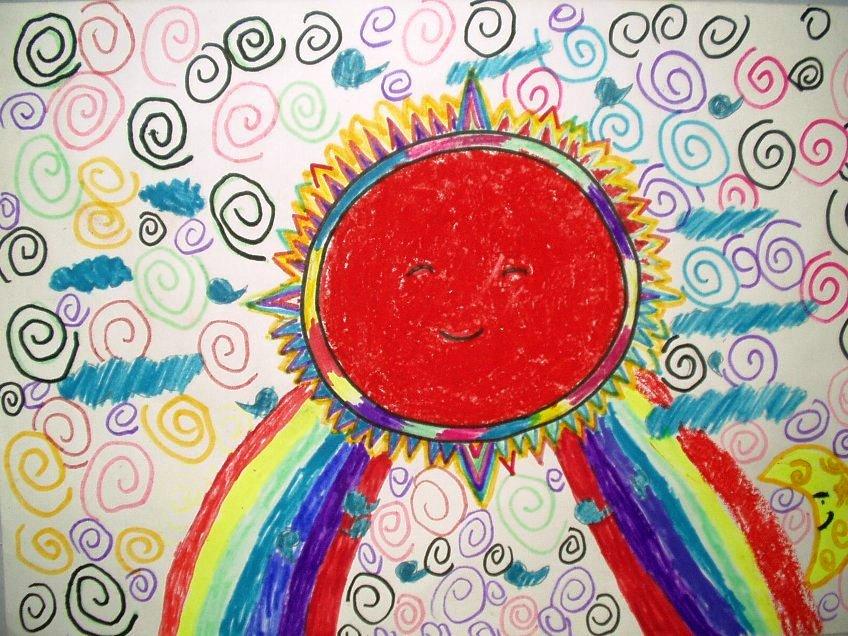 太阳-水彩画图集图片_儿童水彩画_少儿图库_中国儿童