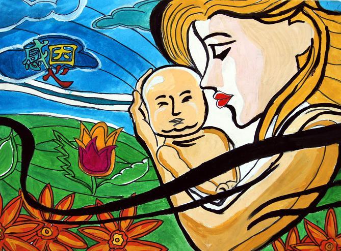 妈妈-水彩画图集图片_儿童水彩画_少儿图库_中国儿童