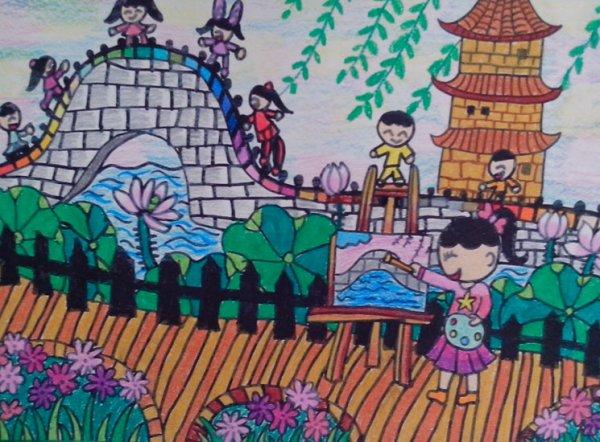 小手绘家乡刮画