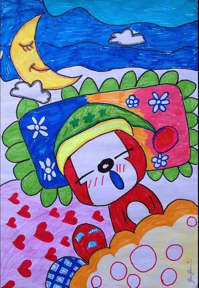 小女孩-水彩画图集图片_儿童水彩画_少儿图库_中国