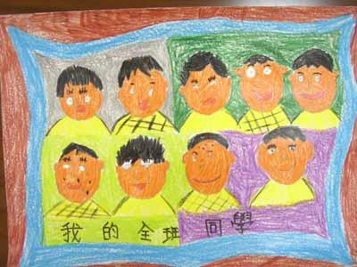 中秋节蜡笔画